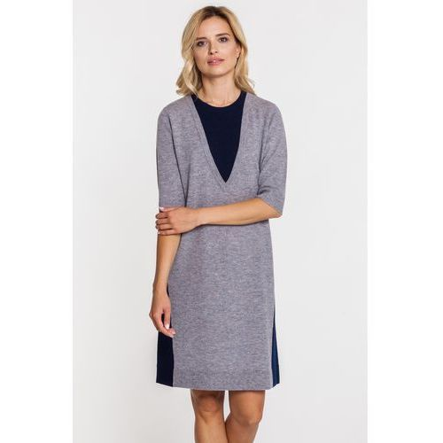a90ffa4964 Wełniana sukienka w kolorze szarym (Patrizia Aryton) - sklep ...