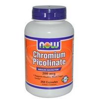 NOW Foods Chromium Picolinate- Chrom, 100 tabl