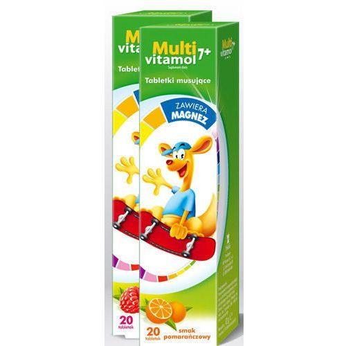 Tabletki MULTIVITAMOL 7+ x 20 tabletek musujących smak malinowy
