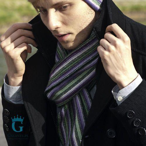 The scarf Wrzosowy szal z wełny owczej sw-8