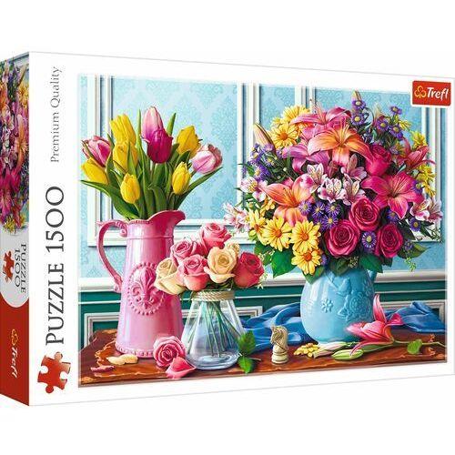 Trefl Puzzle 1500 kwiaty w wazonach