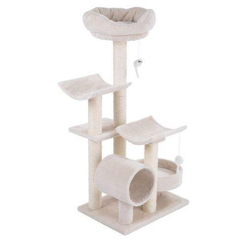 Drapak dla kota Penelope, kremowy - Dł. x szer. x wys: 55 x 40 x 116 cm | Dostawa GRATIS!| Tylko teraz rabat nawet 5%