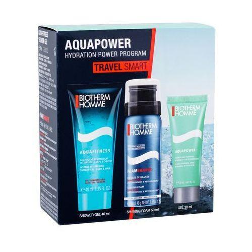 Biotherm Homme Aquafitness zestaw 40 ml Żel pod prysznic 40 ml + Pianka do golenia Foam Shaver 50 ml + Krem nawilżający 20 ml dla mężczyzn - Sprawdź już teraz