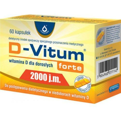 Kapsułki D-Vitum Forte® 2000 j.m. 60 kapsułek