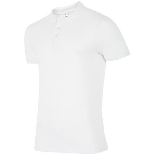 Koszulka polo męska TSM051AZ - BIAŁY