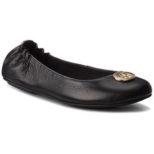d019f94af Baleriny TOMMY HILFIGER - Flexible Ballerina Leather FW0FW03401 Black 990