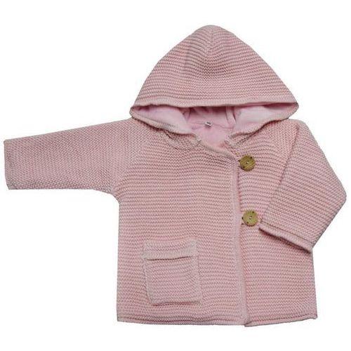 Eko sweter dziewczęcy z guzikami 104 jasnoróżowy (5906286990743)