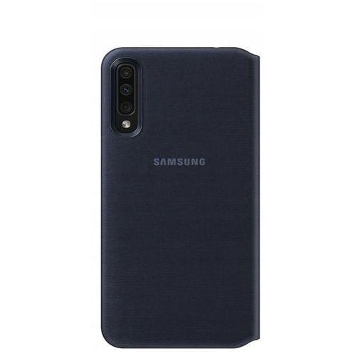 Samsung wallet cover etui kabura bookcase z kieszonką na kartę samsung galaxy a50 czarny (ef-wa505pbegww) (8801643764029)