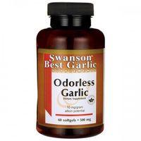 Swanson Odorless Garlic (Czosnek bezzapachowy) 500mg - (60 kap) (0087614090252)