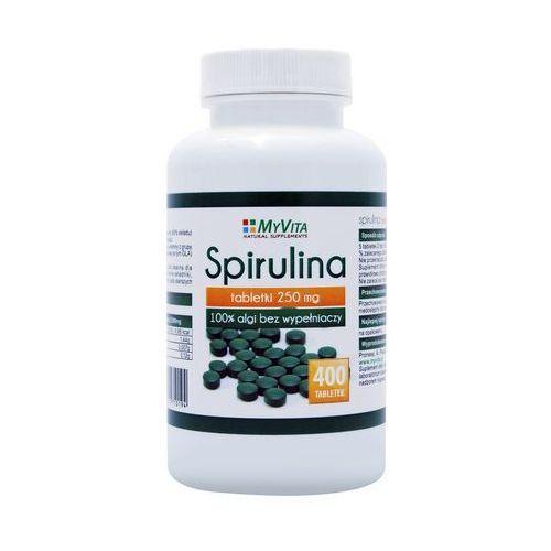 Tabletki Spirulina platensis 250mg (MyVita) 400 tabletek