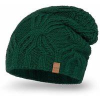 Przedłużana czapka damska PaMaMi - Butelkowa zieleń