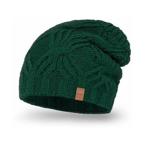 Przedłużana czapka damska PaMaMi - Butelkowa zieleń (5902934076067)