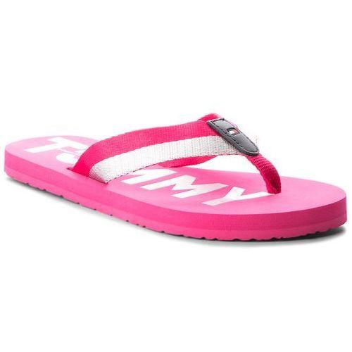 44e42d58fa564 Tommy Hilfiger Japonki TOMMY HILFIGER - Glitter Strap Beach Sandal  FW0FW02957 Bright Rosa 633, kolor różowy