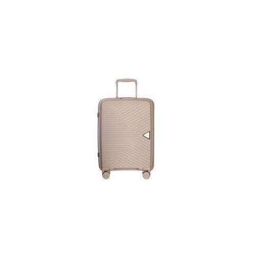 Puccini walizka mała/ kabinowa twarda z kolekcji denver pp014 4 koła zamek szyfrowy tsa materiał polipropylen