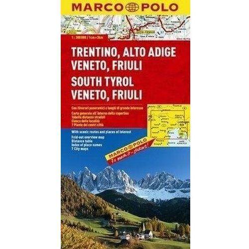 Tyrol Południowy Wenecja Euganejska mapa 1:300 000 Marco Polo (2007)
