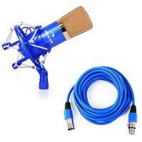 Auna CM001B studyjny mikrofon pojemnościowy XLR nieb./złoty z kategorii Mikrofony