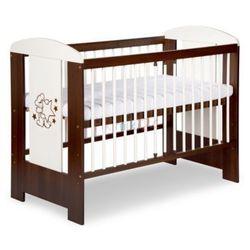 Klupś łóżeczko safari miś ecru orzech 120x60