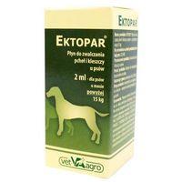 Ektopar spot-on 2ml krople do zwalczania pcheł i kleszczy u psów pow. 15kg marki Vet-agro
