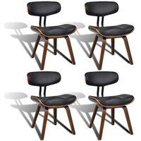 Vidaxl zestaw krzeseł z oparciem ze skóry syntetycznej, 4 sztuki (8718475886631)