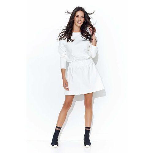 4a39e2c7c56 Zobacz w sklepie Ecru Dresowa Codzienna Sukienka z Ozdobną Kieszonką,  DNU103ecr