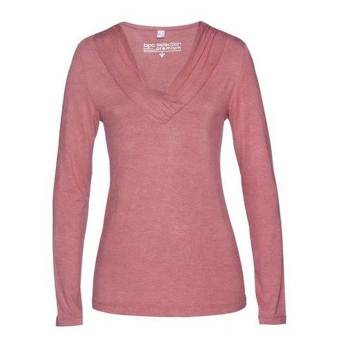 Bonprix Shirt z jedwabiem różowobrązowy