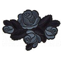 Naszywka do naprasowania - czarne róże