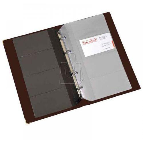 Wizytownik Biurfol 200 wizytówek ringi brązowy (5907214102337)
