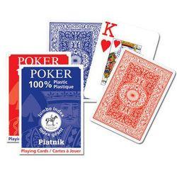 Piatnik 100 % plastikowe, classic poker - duże indeksy, talia niebieska - karty do gry