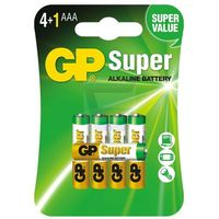 5 x bateria alkaliczna GP Super Alkaline LR03/AAA (4891199009174)