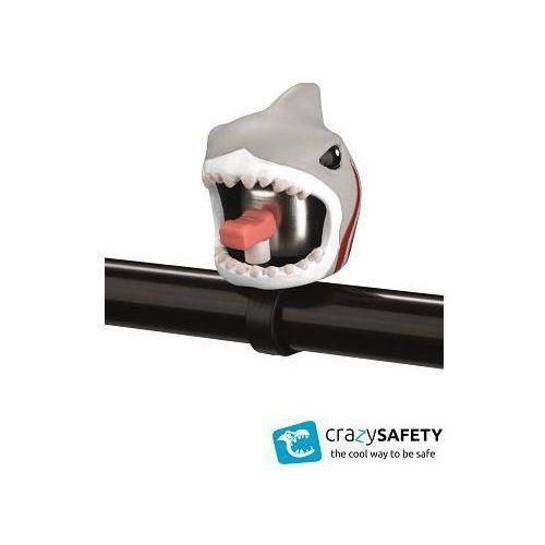 Crazy safety dzwonek rowerowy biały rekin