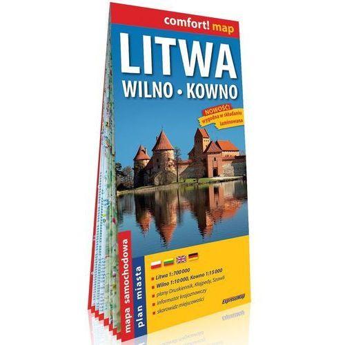 Litwa Wilno Kowno laminowana mapa samochodowa 1:700 000/1:10 000/1:15 000 - Praca zbiorowa, Expressmap