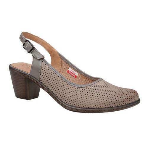 Czółenka sandały comfort 1585 beżowe, Axel