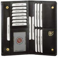 Bezpieczny Skórzany Damski Antykradzieżowy Portfel RFID (Czarny) - Czarny połysk