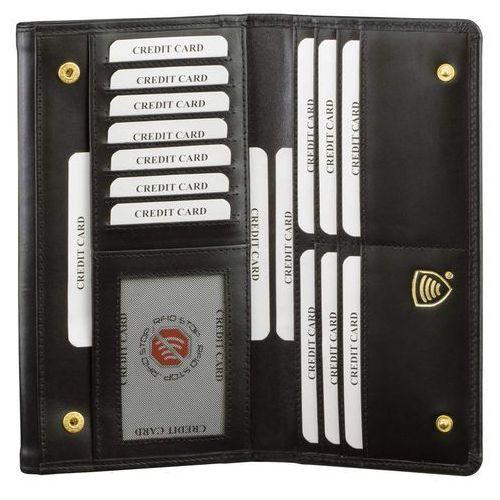 Bezpieczny Skórzany Damski Antykradzieżowy Portfel RFID (Czarny) - Czarny połysk (5902730820246)