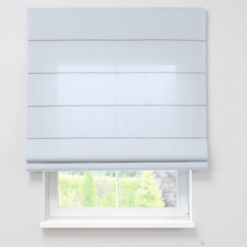 roleta rzymska zaciemniająca, szaro-biały, szer.80 × dł.170 cm, blackout - zaciemniające marki Dekoria