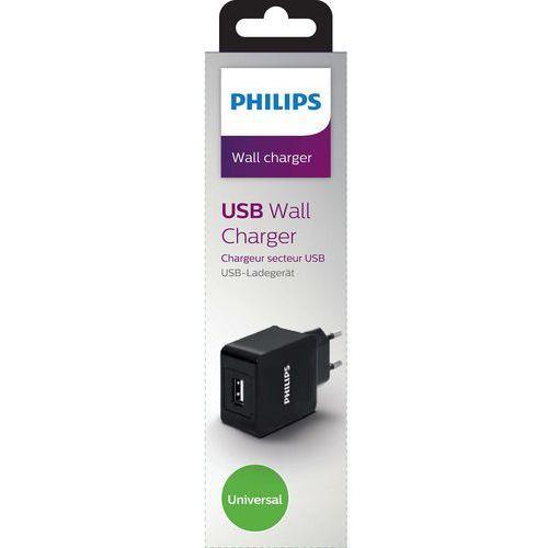 Ładowarka ładowarka sieciowa usb 5v, 2.1a, czarna / philips - dlp2309/12 darmowy odbiór w 21 miastach! marki Philips