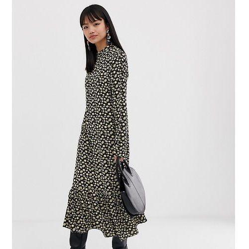 52c55ea05c Zobacz ofertę Midi high neck dress in buttercup floral - black Glamorous  petite