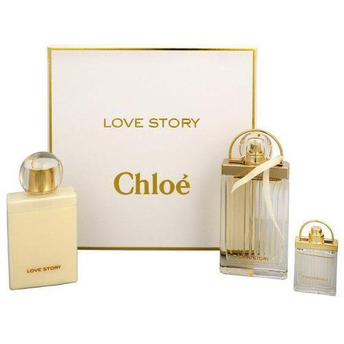 Chloe Love Story, Zestaw podarunkowy, woda perfumowana 75ml + woda perfumowana 7.5ml + balsam do ciała 100ml