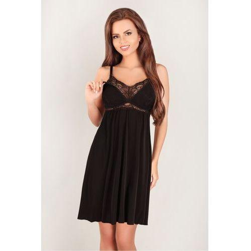 48e311619a2609 Zobacz ofertę Koszulka nocna Koszula Ciążowa Model 3059 Black - Lupo Line,  kolor czarny