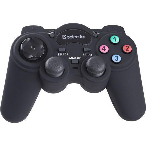 Defender Gamepad przewodowy game racer, tryb turbo, efekt wibracji, usb/ps2/ps3