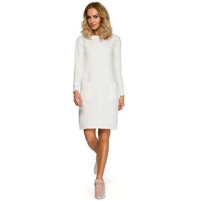 3d8eb8fd29 suknie sukienki prosta chabrowa dzianinowa sukienka przed kolano z ...