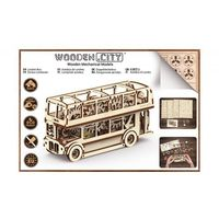Autobus londyński wr303 - wooden.city. darmowa dostawa do kiosku ruchu od 24,99zł marki Wooden-city