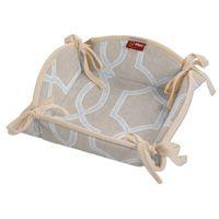 koszyk na pieczywo, szary marokański wzór na beżowym tle, 20x20 cm, comics marki Dekoria