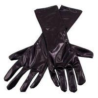 Rękawiczki karnawałowe czarne - cm.
