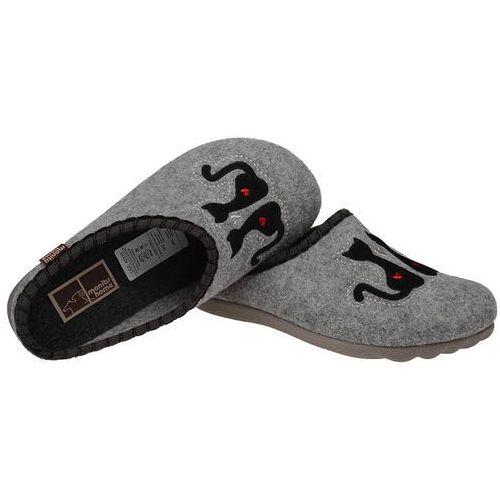 3ad7e7fe Manitu Kapcie pantofle domowe ciapy 320469-9 popielate - szary ||popielaty  - fotografia