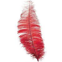 Duże czerwone pióro - 30 cm - 1 szt.