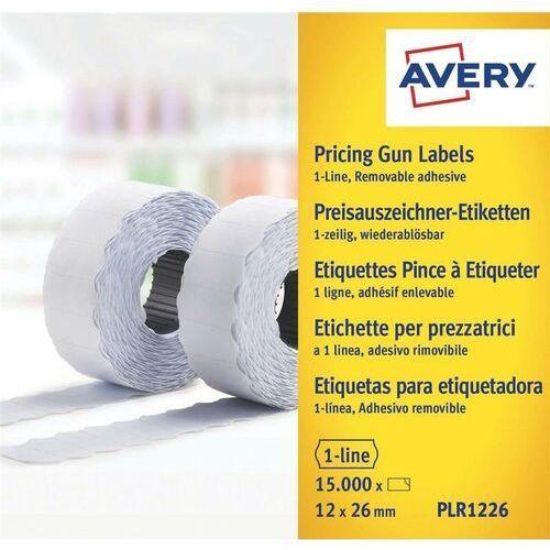 Avery zweckform Etykiety cenowe w rolce do metkownicy jednorzędowej; usuwalne; 1500 etyk./rolka; 10 rolek/op.; 12 x 26 mm, białe