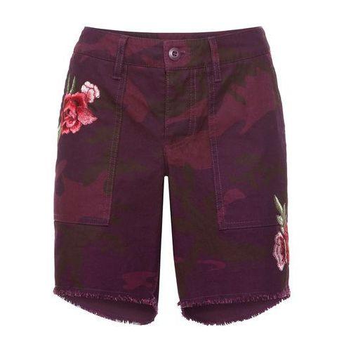 292c9a419f Krótkie spodnie czerwony rododendron moro marki Bonprix - Fotografia  produktu