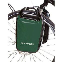 CO1010.30.86 Sakwy rowerowe Crosso DRY SMALL 30l Zielone zestaw na tył / przód, S0484