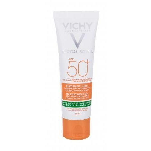 Vichy Capital Soleil Mattifying 3-in-1 SPF50+ preparat do opalania twarzy 50 ml dla kobiet - Bardzo popularne